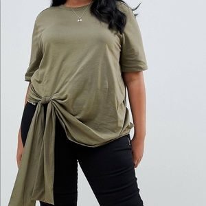 ASOS curve knotted tee...